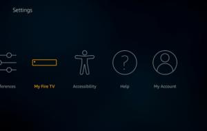 my fire tv developer options