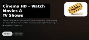 uninstall cinema hd on chromecast with google tv