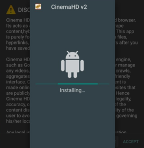 installing cinema update firetv