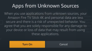 unknown sources for cinema update firestick