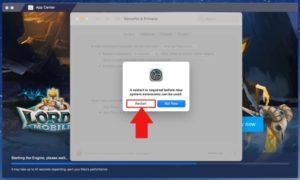 restart bluestacks on macbook