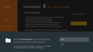 allow downloader app on firestick