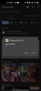 cinema apk v2 android